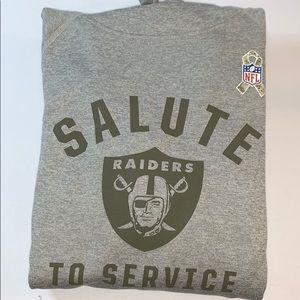 Nike Salute To Service Raiders Hoodie Grey size M